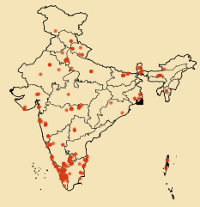 Locations of birdlists uploaded to eBird during Endemic Bird Day. Click for a larger picture.