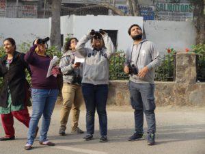 AUD students in Delhi, pic: Meghna Joshi
