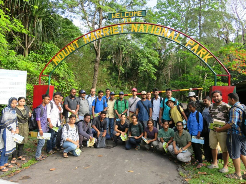 The team at Mount Harriet National Park, South Andaman