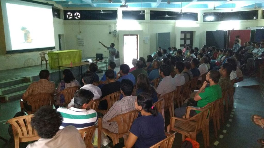 During the workshop at Mahim Nature Park, Mumbai