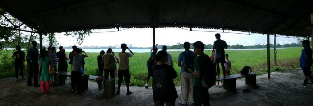 Birders from IIT Bombay scanning the Powai Lake (Checklist)