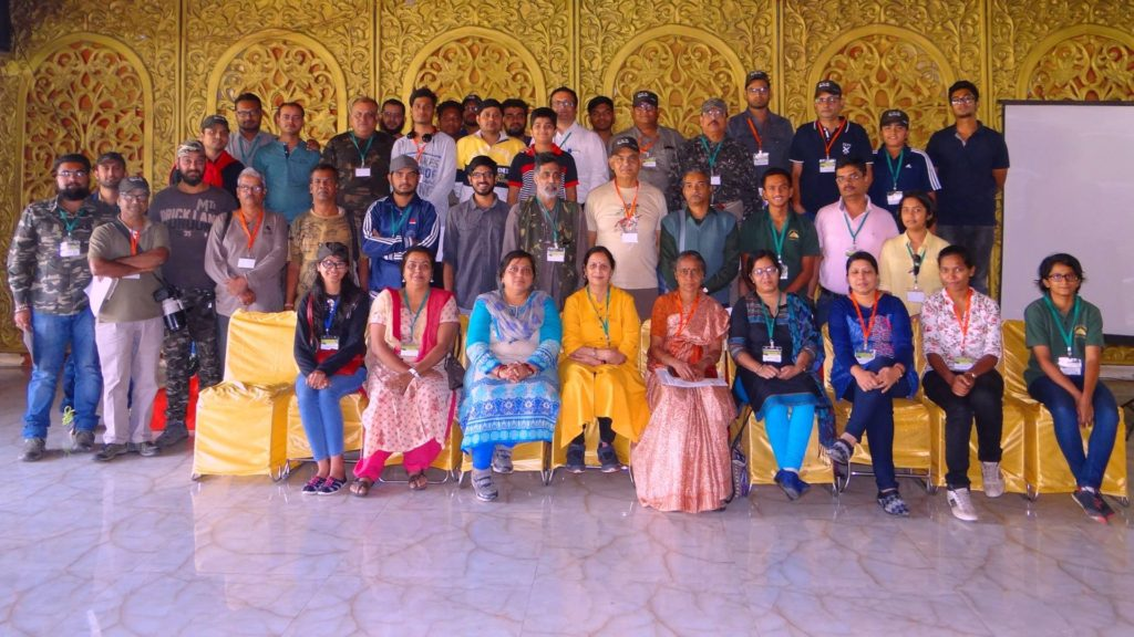 The attendees at the Bird Monitoring workshop in Raipur