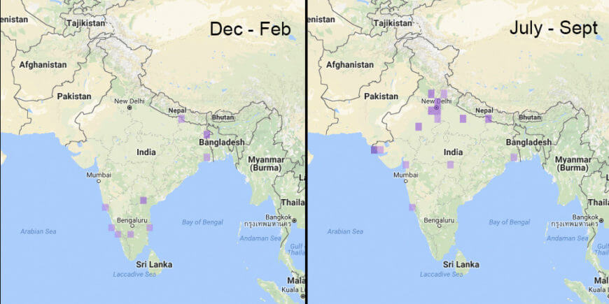 Endemic Bird Day Quiz Bird Count India - Bangladesh map quiz